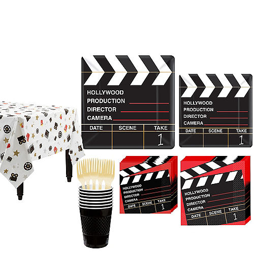 Clapboard Hollywood Tableware Kit for 16 Guests Image #1
