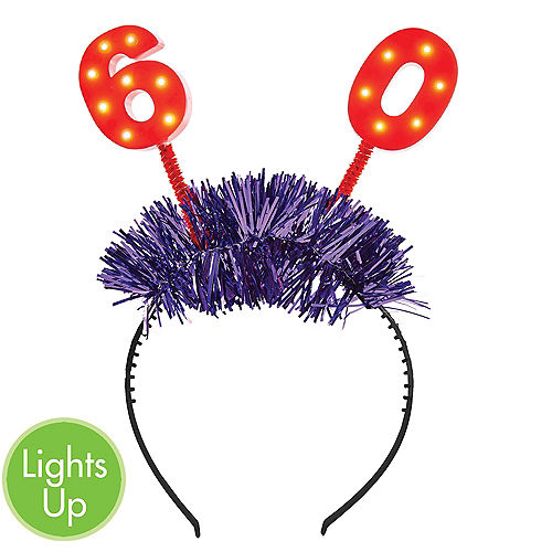 Light-Up 60th Birthday Head Bopper Image #1