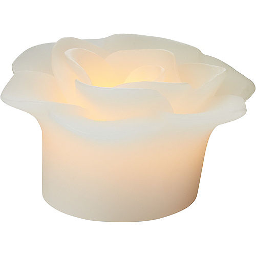 White Floating Flower Water-Activated Flameless LED Candles 2ct Image #3