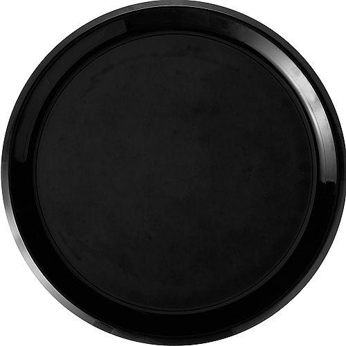 Black Plastic Round Platter Image #1