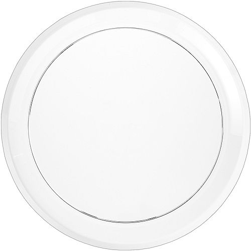 CLEAR Plastic Round Platter Image #1