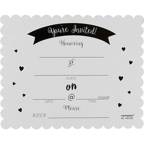 Premium Chalkboard Baby Shower Invitations 8ct Image #2
