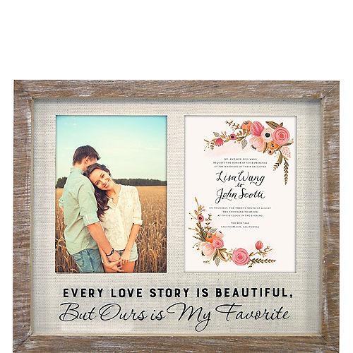 Love Story Rustic Wedding Invitation Photo Frame Image #1