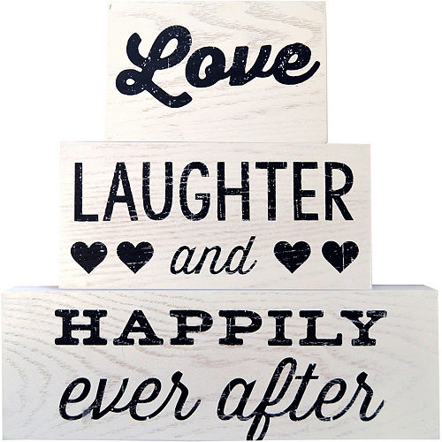 Happily Ever After Block Signs 3pc Image #1