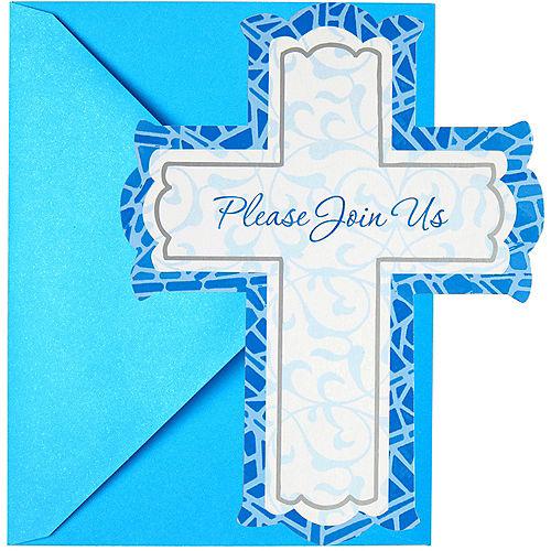 Blue Cross Invitations 8ct Image #1