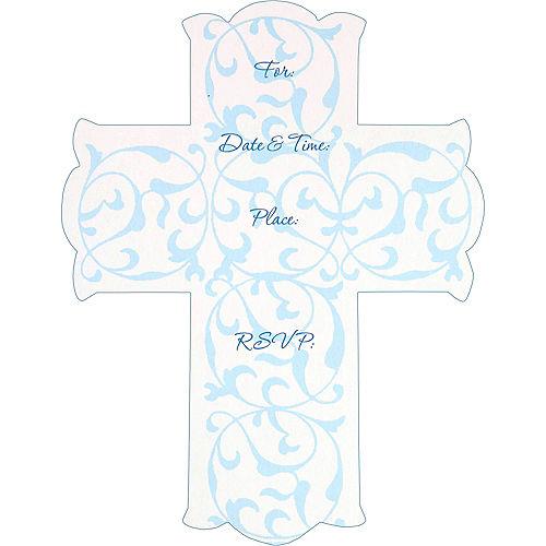 Blue Cross Invitations 8ct Image #2