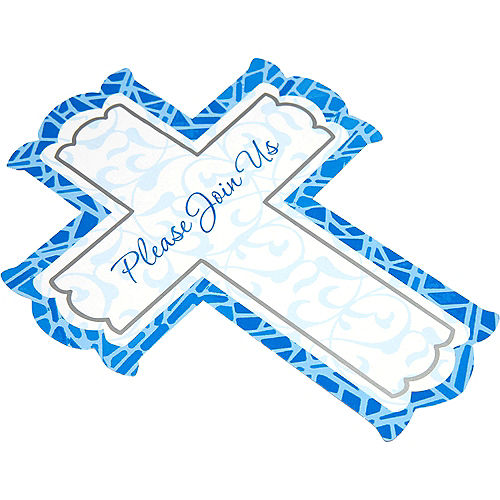 Blue Cross Invitations 8ct Image #4