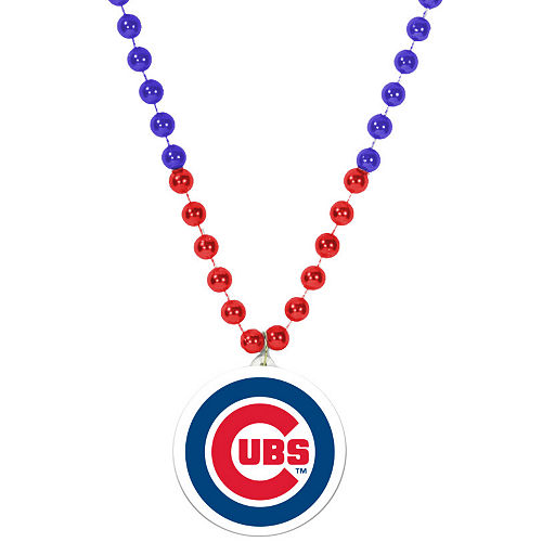 Chicago Cubs Pendant Bead Necklace Image #1