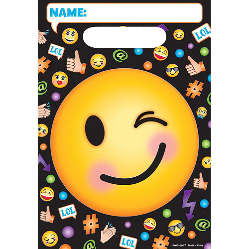 Smiley Favor Bags 8ct Image #1