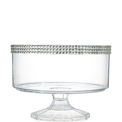 Small Rhinestone Clear Plastic Trifle Container Image #1