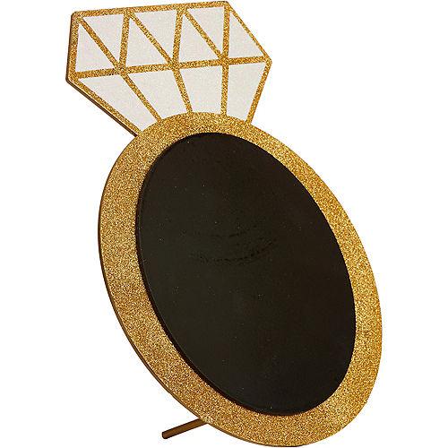 Glitter Diamond Ring Chalkboard Sign Image #2