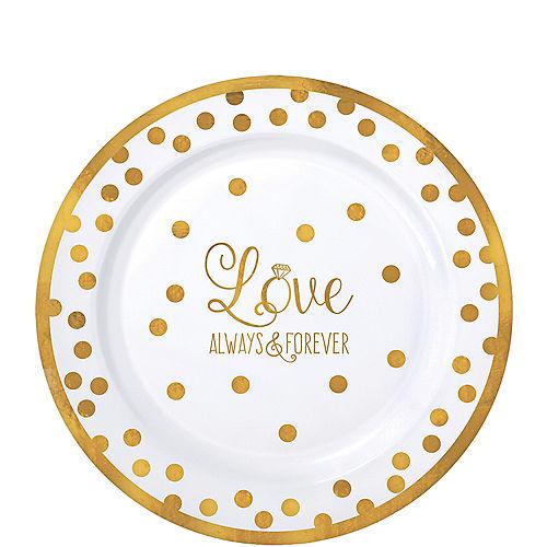 Sparkling Gold Wedding Premium Plastic Lunch Plates 20ct Image #1