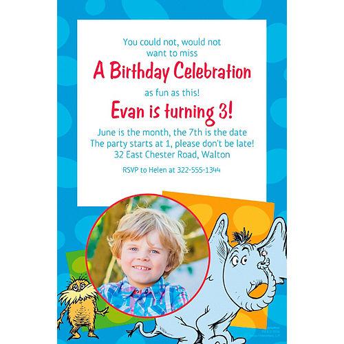 Custom Dr. Seuss Photo Invitation Image #1