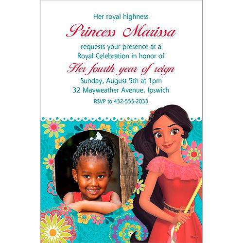 Custom Elena of Avalor Photo Invitation Image #1