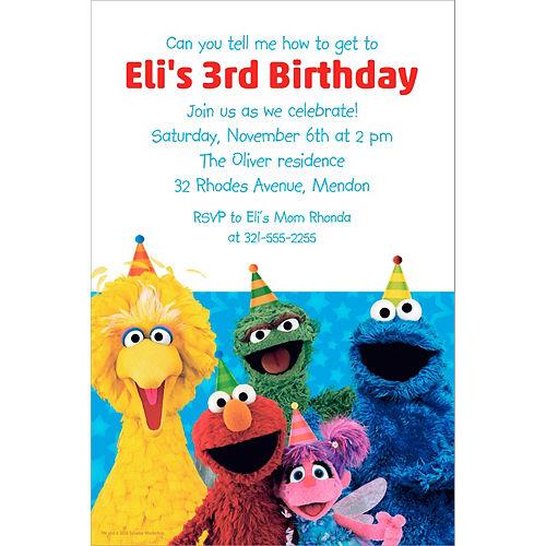 Custom Sesame Street Invitation Image #1