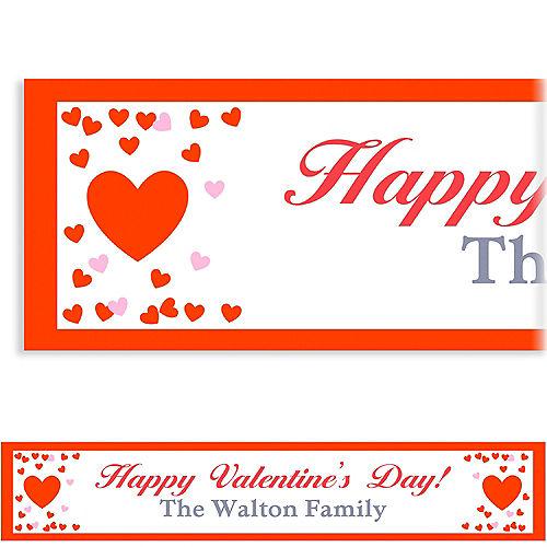Custom Confetti Hearts Banner Image #1