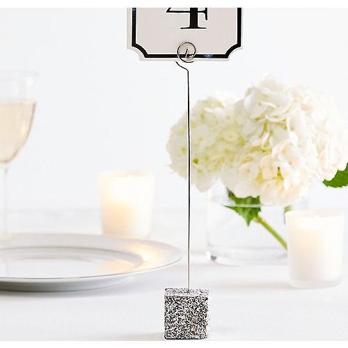 Glitter Silver Table Number Holder Image #1