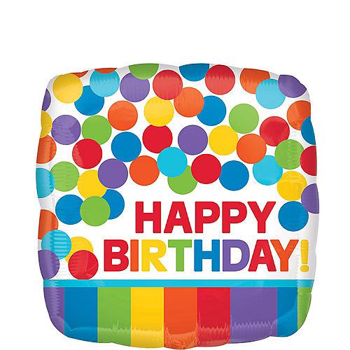 Rainbow Birthday Balloon, 17in Image #1