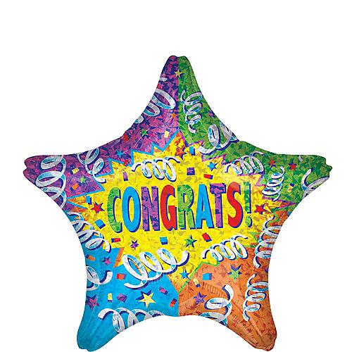 Congrats Star Balloon 19in Image #1