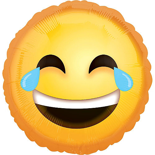 Laughing Crying Smiley Balloon, 18in Image #1