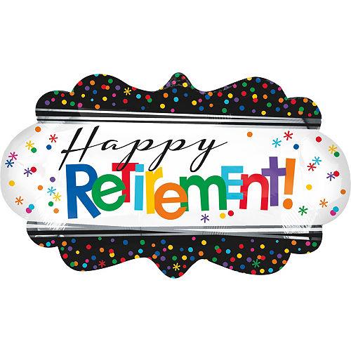 Happy Retirement Celebration Balloon 27in x 16in Image #1