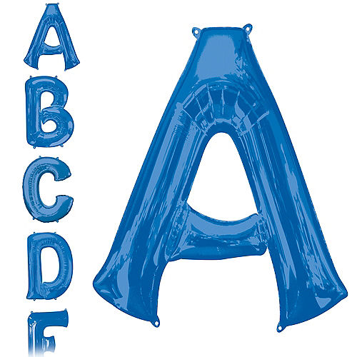 34in Blue Letter Balloon (A) Image #1