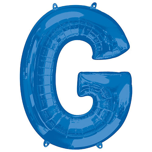34in Blue Letter Balloon (G) Image #1