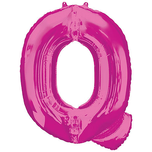 34in Pink Letter Balloon (Q) Image #1