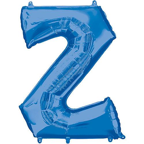 34in Blue Letter Balloon (Z) Image #1