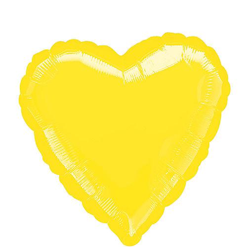 17in Yellow Heart Balloon Image #1