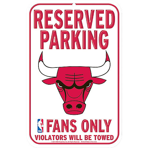 Reserved Parking Chicago Bulls Sign Image #1