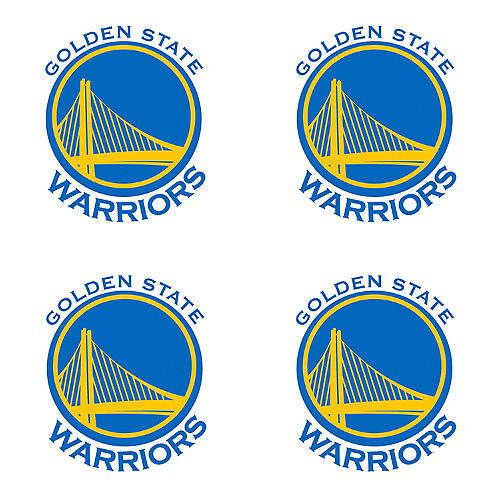 Golden State Warriors Face Tattoos 4ct Image #1