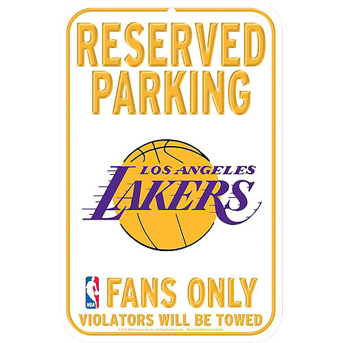 Reserved Parking Los Angeles Lakers Sign Image #1