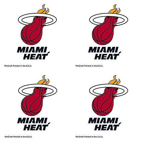 Miami Heat Face Tattoos 4ct Image #1