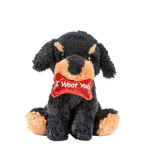Black & Brown I Woof You Dog Plush Image #1