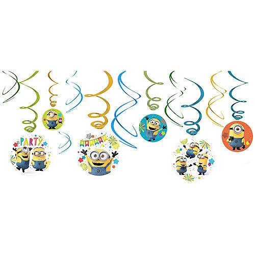 Minions Swirl Decorations 12ct Image #1