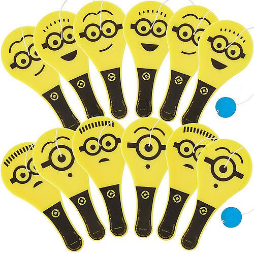 Minions Paddle Balls 12ct Image #1