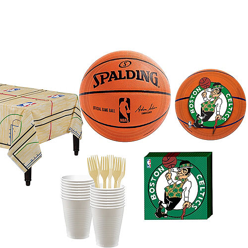 Boston Celtics Party Kit 16 Guests Image #1