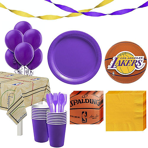 Super Los Angeles Lakers Party Kit 16 Guests Image #1