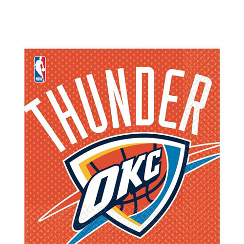 Oklahoma City Thunder Party Kit 16 Guests Image #4