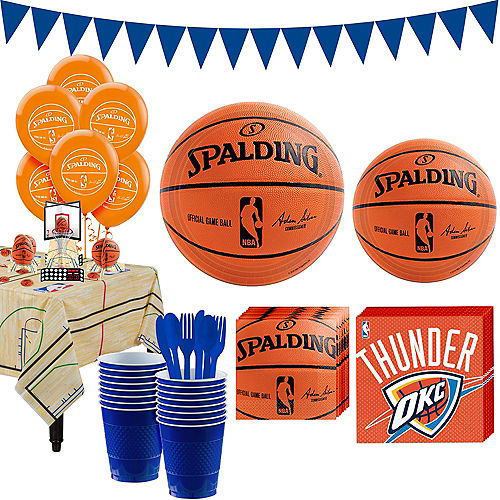 Super Oklahoma City Thunder Party Kit 16 Guests Image #1
