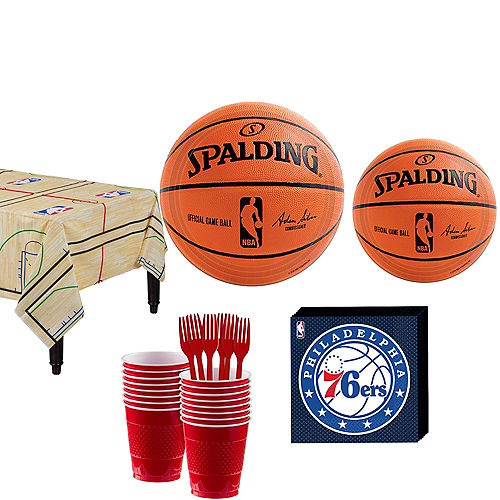 Philadelphia 76ers Party Kit 16 Guests Image #1