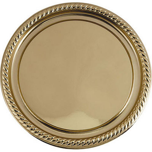 Gold Plastic Braided Edge Platter Image #1