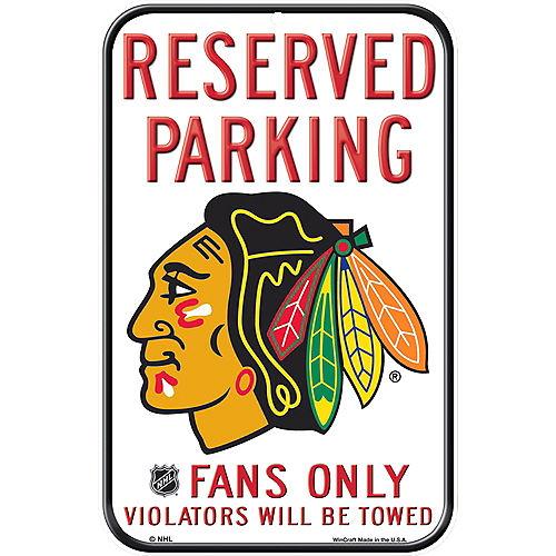 Reserved Parking Chicago Blackhawks Sign Image #1