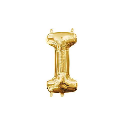 13in Air-Filled Gold Letter Balloon (I) Image #1