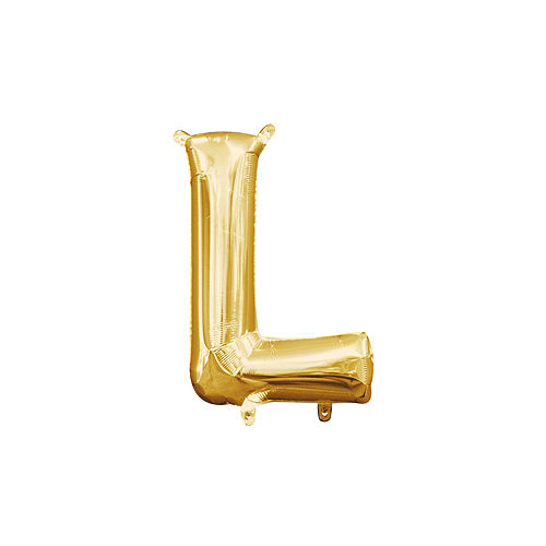 13in Air-Filled Gold Letter Balloon (L) Image #1