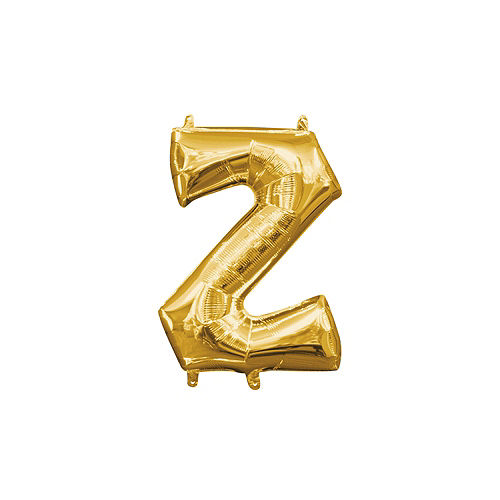 13in Air-Filled Gold Letter Balloon (Z) Image #1