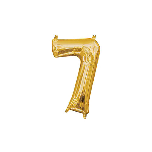 13in Air-Filled Gold Number Balloon (7) Image #1