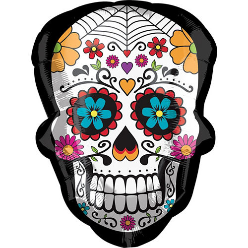 Day of the Dead Sugar Skull Balloon, 24in Image #1