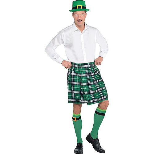 Adult Plaid St. Patrick's Day Kilt Costume Image #1